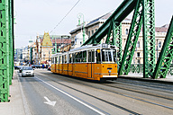 Hungary, Budapest, Tramway on  Liberty bridge - GEM000833