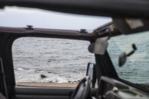 Spain, Tenerifa, beach seen from the car - SIPF000320