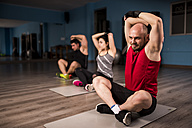 Yoga and stretching class at the gym - JASF000642