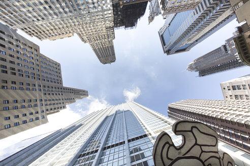 USA, New York City, Manhattan, Financial District, view from below - FCF000895
