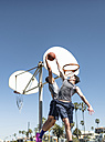 USA, Los Angeles, basketball training - LEF000081