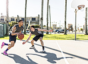 USA, Los Angeles, basketball training - LEF000084