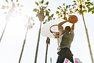 USA, Los Angeles, basketball training - LEF000087