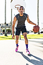 USA, Los Angeles, basketball training - LEF000090