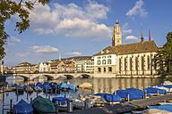 Switzerland, Zurich, View to Great Minster, Limmat river - PUF000497