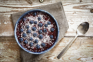 Smoothie Bowl with blueberries and coconut flakes - EVGF002926