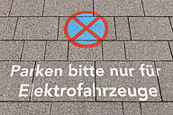 No parking sign, only for electric vehicles - WDF003589