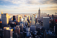 USA, New York City, Manhattan at sunset seen from above - GIOF000890