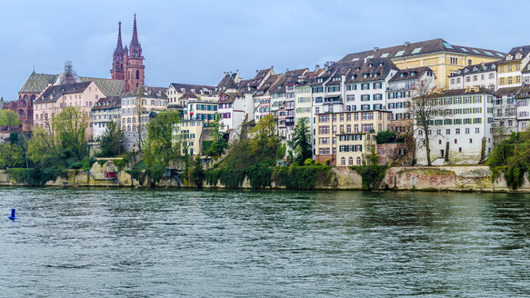 Switzerland, Basel, Cityscape with River Rhine and Minster - MHF000389