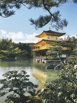Japan, Kyoto - Golden Japanese Temple on Sunny Day (Kinkaku ji Temple) - JUB000150