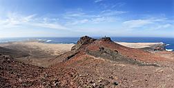 Spain, Canary Islands, Fuerteventura, Jandia, View from Las Talahijas to El Puertito de la Cruz and Punta Pesebre - WWF003966