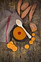 Bowl of sweet potato coconut soup - LVF004782
