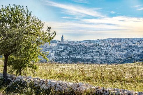 Italy, Basilicata, Matera, Old town, View to Sassi of Matera, Parco della Murgia Materana - CSTF001036