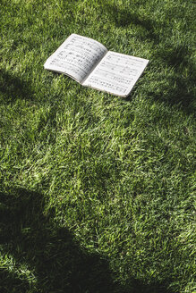 Music book lying on a meadow - DEG000790