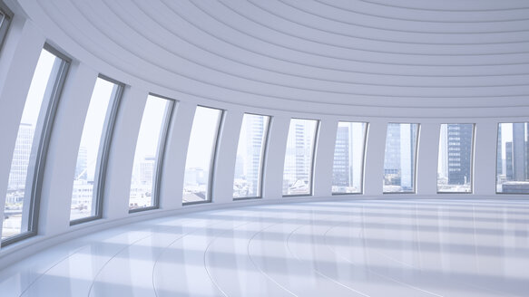 Empty hall in a high-rise building, 3D Rendering - UWF000851