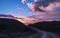 Portugal, Algarve, Aljezur, Atlantic Coast, road in the evening - ASAF000015