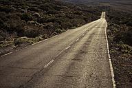Spain, Tenerife, empty road in El Teide region - SIPF000379