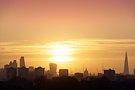 UK, London, skyline with St Paul's Cathedral and The Shard in backlight - BRF001330