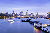 UK, London, skyline with River Thames at dawn - BRF001339