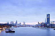 UK, London, skyline with River Thames at dawn - BRF001342