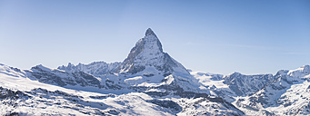 Switzerland, Zermatt, Pennine Alps, view to Matterhorn, panorama - STCF000230