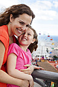 Spain, Barcelona, portrait of  mother and daughter - VABF000466