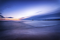 Scotland, East Lothian, North Berwick Beach, sunrise over the submerged yachting pond - SMAF000463