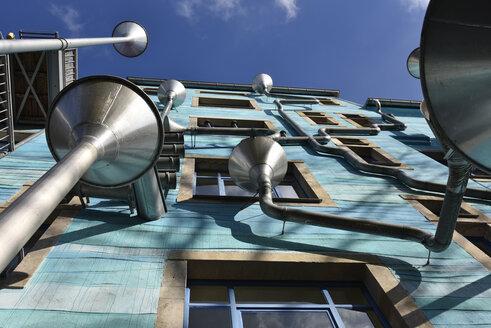 Germany, Saxony, Dresden, Neustadt, modern building, eaves gutters - FD000160