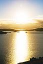 Peru, Amantani Island, sunset over Lake Titicaca - GEMF000884
