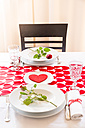 Laid table at Valentine's Day - LVF004822