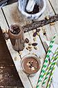 Vegan peanut-cocoa smoothie with chia seeds - SBDF002889