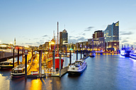 Germany, Hamburg, Niederhafen in the evening - MSF004760