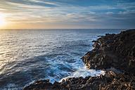 Spain, Tenerife, rocky coast at sunrise - SIPF000426