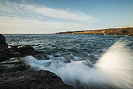 Spain, Tenerife, rocky coast at sunrise - SIPF000429