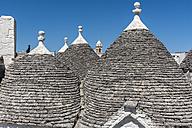 Italy, Apulia, Alberobello, Trulli, conical roofs - CSTF001058