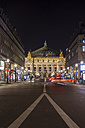France, Paris, view to Palais Garnier at night - JUNF000524