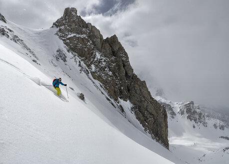 France, Queyras, Nature Park, off-piste skiing - ALRF000389