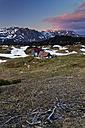 Austria, Styria, Tragoess, View of Hochschwab Range at sunset, Sonnschien alp - GFF000572