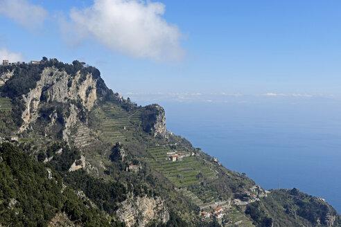 Italy, Campania, View from Sentiero degli Dei, Coast of Amalfi - HLF000968