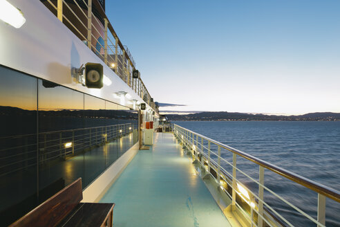 On board of a cruise ship, Mediterranean Sea in the evening - MEMF000945