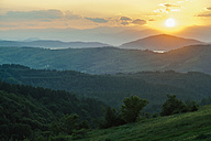Bulgaria, Rhodope Mountains at sunset - BZF000286