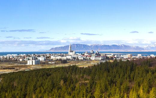 Iceland, Reykjavik, city view - JLRF000023