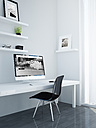 Minimalist workspace, studio for designer or creative professional, 3D Rendering - JPSF000001