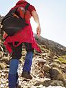 Spain, Sierra de Gredos, man hiking in mountains - LAF001646