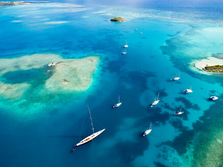 Antigua and Barbuda, West Indies, Antigua, Green Island, Green Bay, maxi yacht - AMF004925