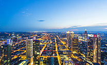 Germany, Frankfurt, city view from above by sunset - TAMF000486