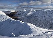 Scotland, Glencoe, Buachaille Etive Beag, Stob Dubh, mountaineering in winter - ALRF000477