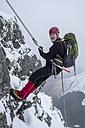 Scotland, Glencoe, Beinn a'Bheithir,  mountaineering in winter - ALRF000483