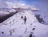 Scotland, Glencoe, Beinn a'Bheithir,  mountaineering in winter - ALRF000498
