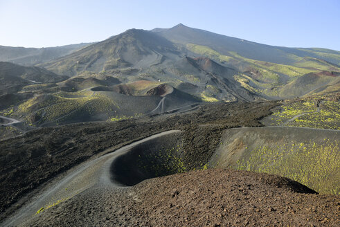 Italy, Sicily, Mount Etna, volcanic crater, lava fields - RJF000596